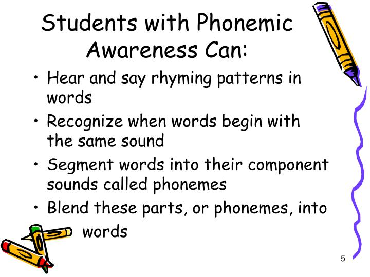 Students with Phonemic Awareness Can: