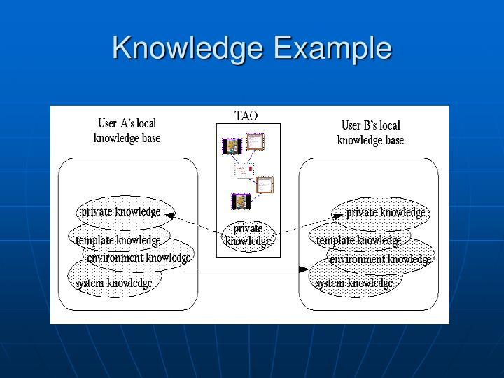Knowledge Example