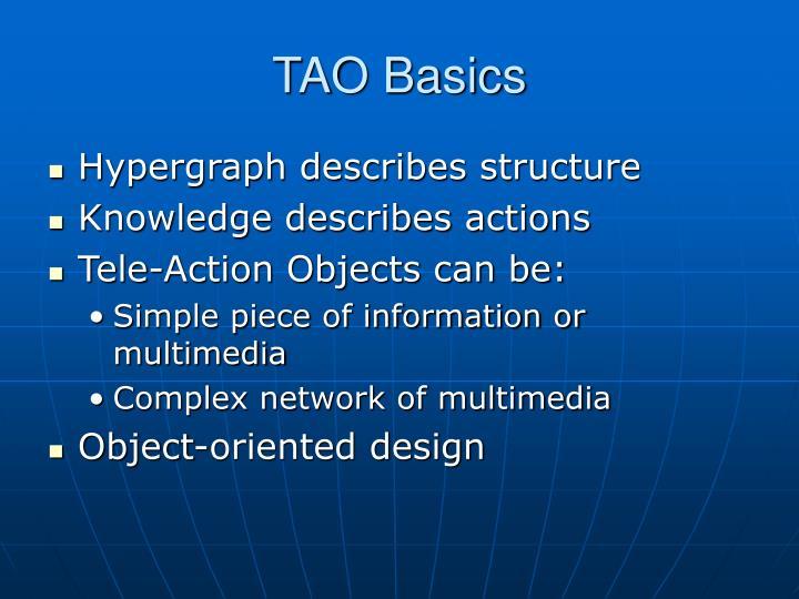 TAO Basics