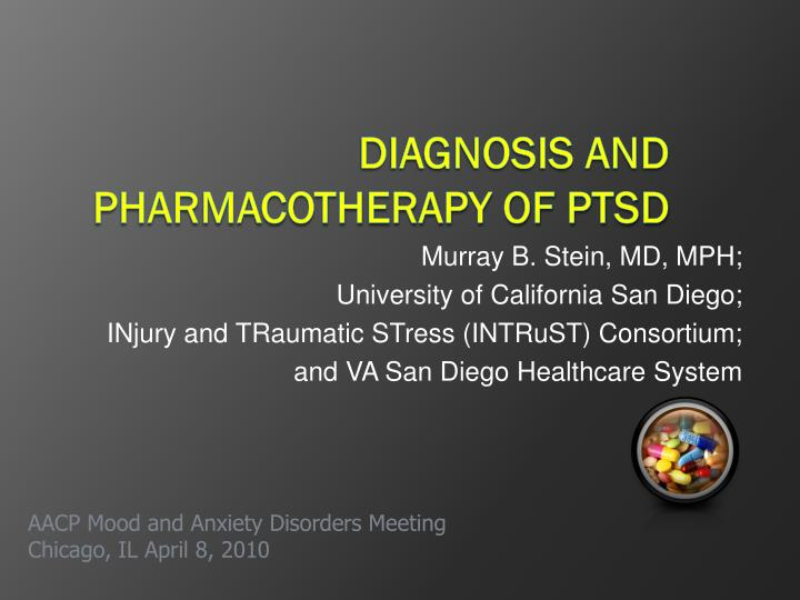 diagnosis and pharmacotherapy of ptsd n.