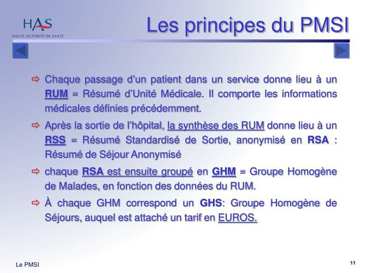 Les principes du PMSI