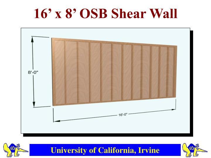 16' x 8' OSB Shear Wall