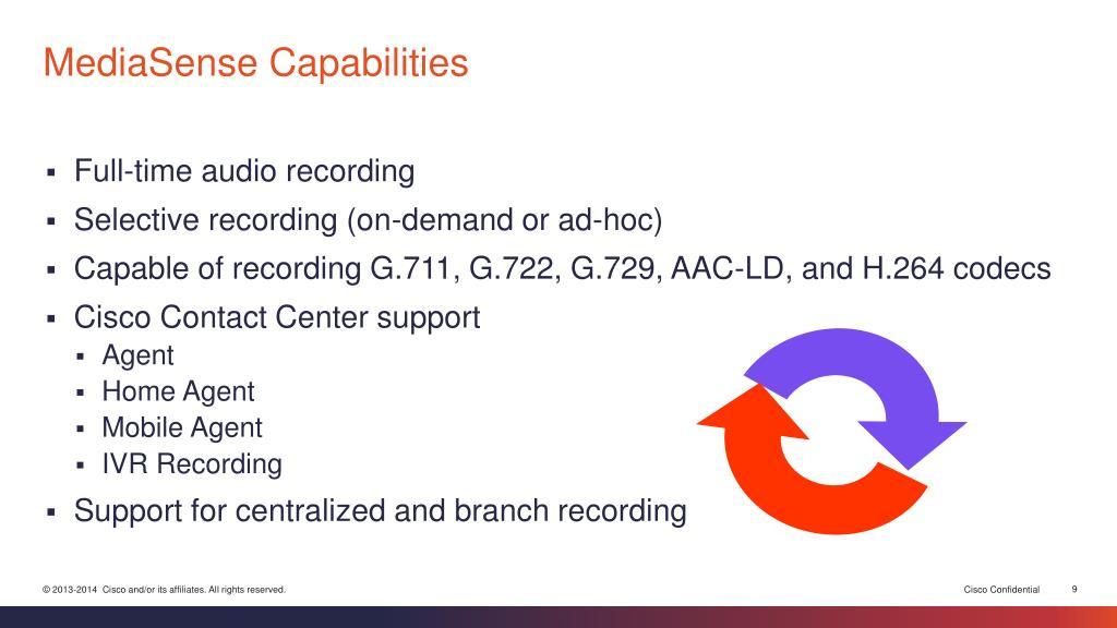 PPT - Cisco MediaSense 10 5 PowerPoint Presentation - ID:6958588