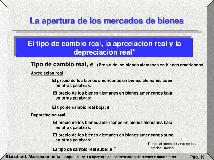 El tipo de cambio real, la apreciación real y la depreciación real*