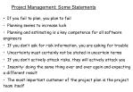 project management some statements