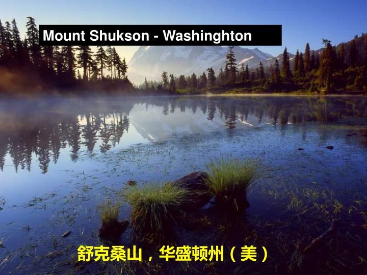 Mount Shukson - Washinghton