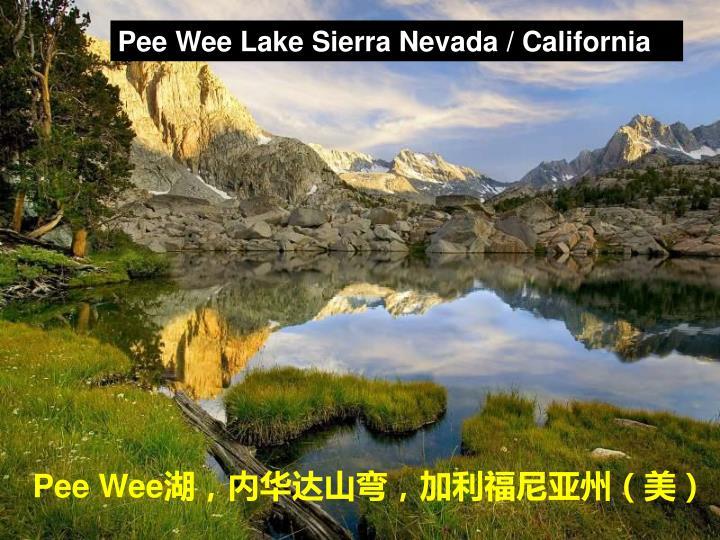Pee Wee Lake Sierra Nevada / California