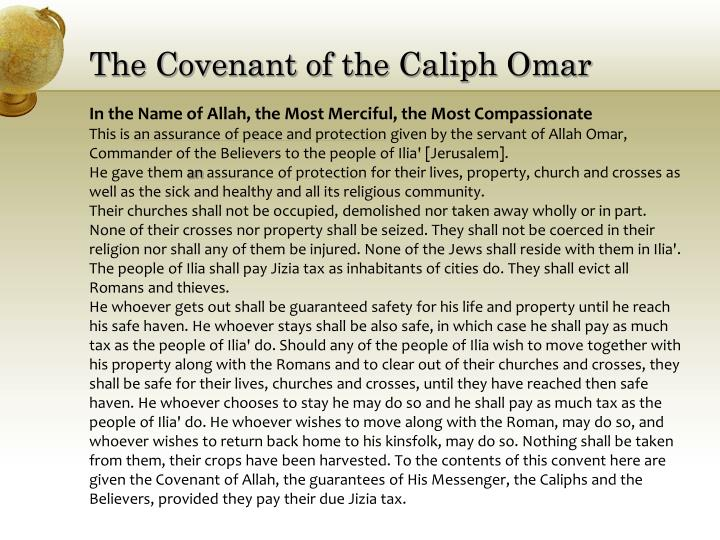 The Covenant of the Caliph Omar