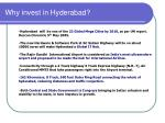 why invest in hyderabad