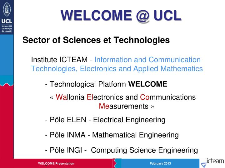 Welcome @ ucl1