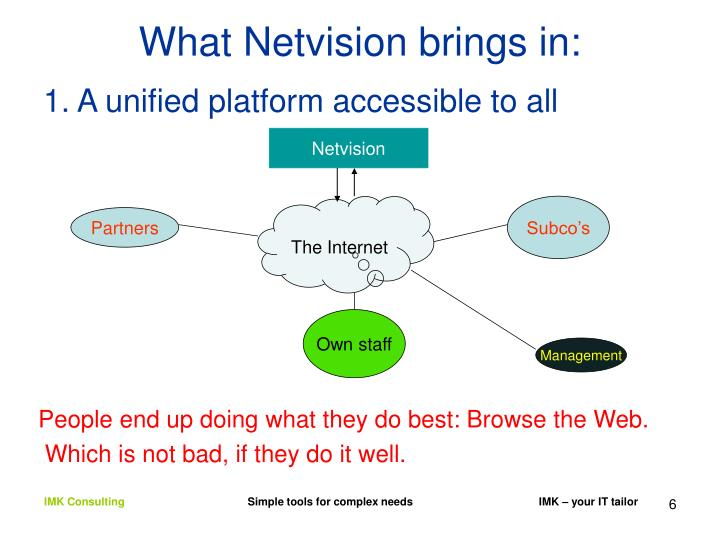 What Netvision brings in: