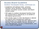 access board guideline outdoor developed areas continued 2