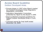 access board guideline outdoor developed areas
