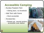 accessible camping