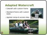 adapted watercraft