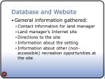 database and website