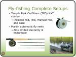 fly fishing complete setups