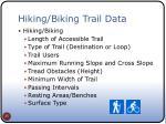 hiking biking trail data
