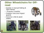 other wheelchairs for off road