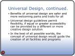 universal design continued