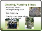 viewing hunting blinds