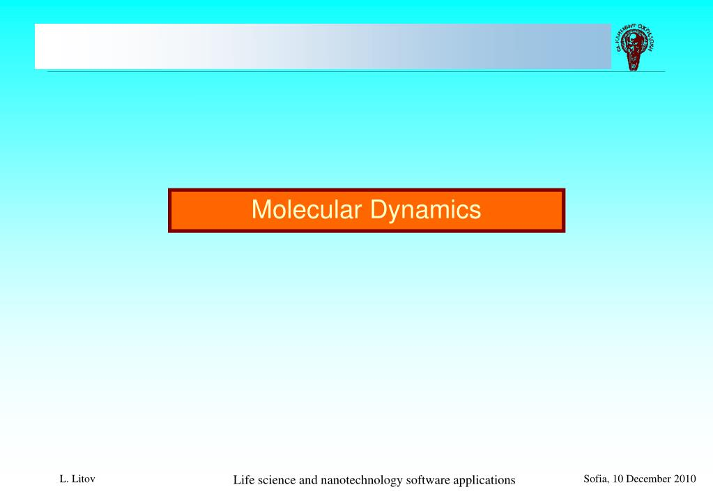 PPT - Life science and nanotechnology software applications