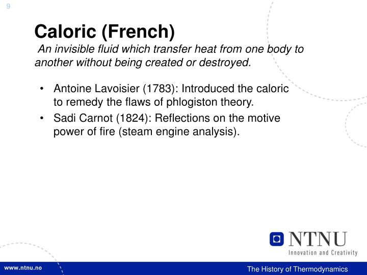 Caloric (French)