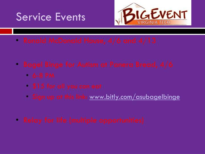 Service Events