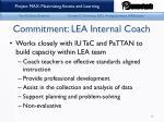 commitment lea internal coach