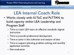 lea internal coach role