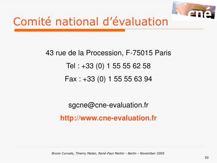 Comité national d'évaluation