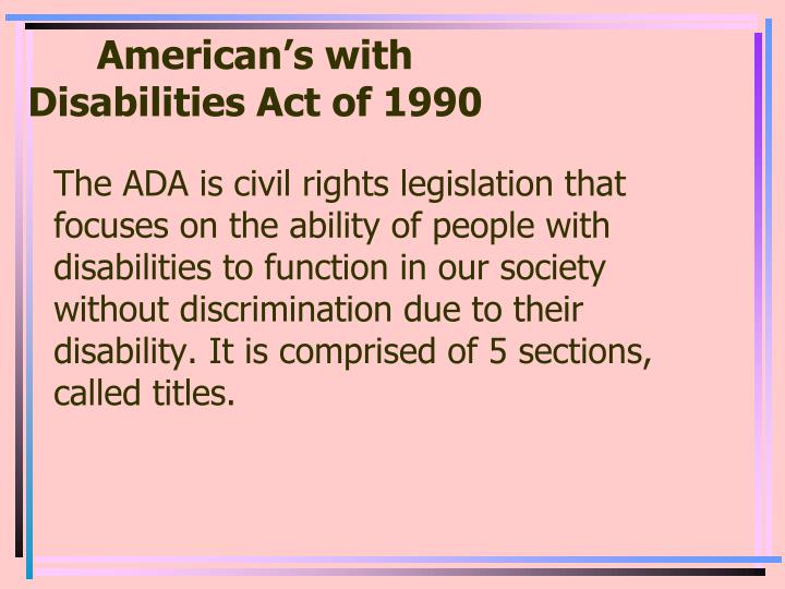 american s with disabilities act of 1990 n.