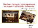 abondance harmonie foi religieuse dans les maisons traditionnelles de bucovine