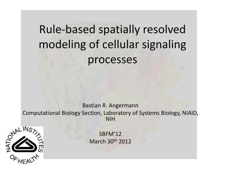 rule based spatially resolved modeling of cellular signaling processes n.