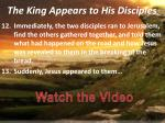 the king appears to his disciples4