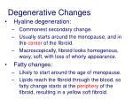degenerative changes