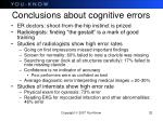 conclusions about cognitive errors