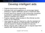 develop intelligent aids
