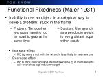 functional fixedness maier 1931