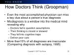 how doctors think groopman