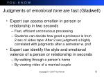 judgments of emotional tone are fast gladwell