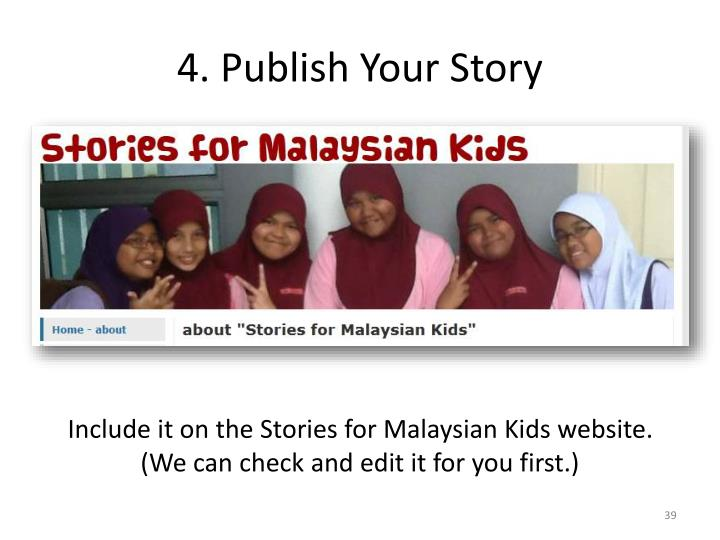 4. Publish Your Story