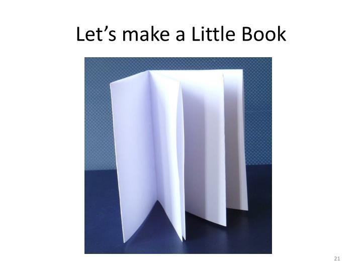 Let's make a Little Book