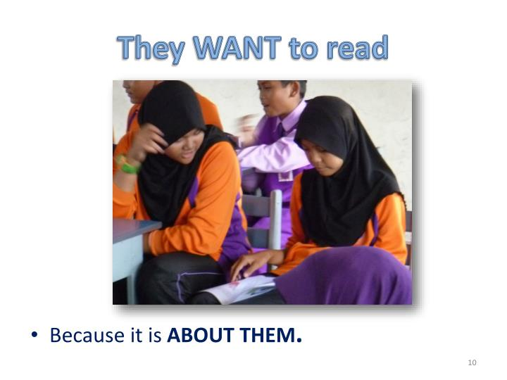 They WANT to read