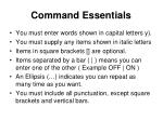 command essentials
