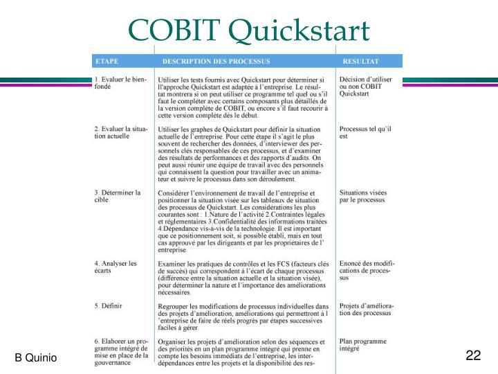 COBIT Quickstart