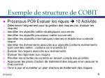 exemple de structure de cobit