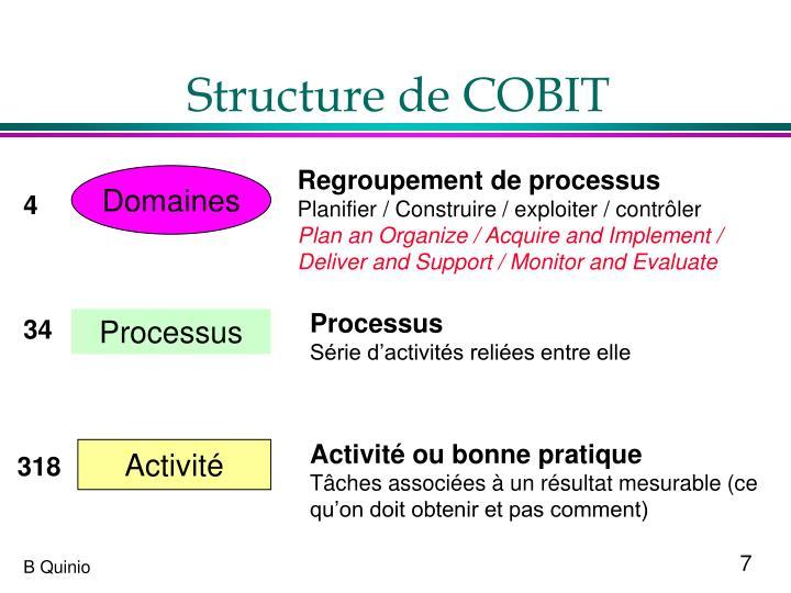 Structure de COBIT