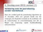 2 verslag over 2012 revisor 1