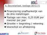 6 secretariaat toelage 2013 1